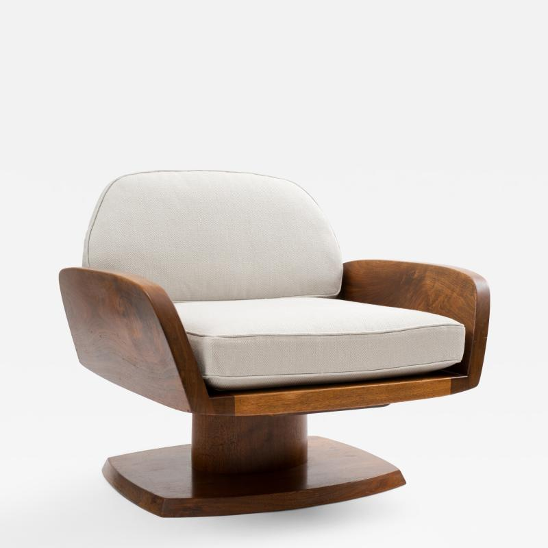 Robert Whitley Robert Whitley American Studio Craft Movement Upholstered Lounge Chair 1968