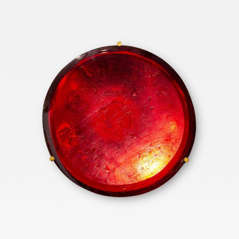 Roberto Giulio Rida Red glass sculpture Rosso Roberto Giulio Rida