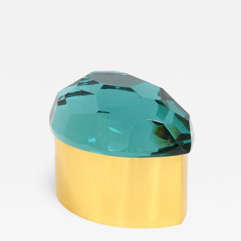Roberto Giulio Rida Tartarugh box in glass and brass Roberto Giulio Rida