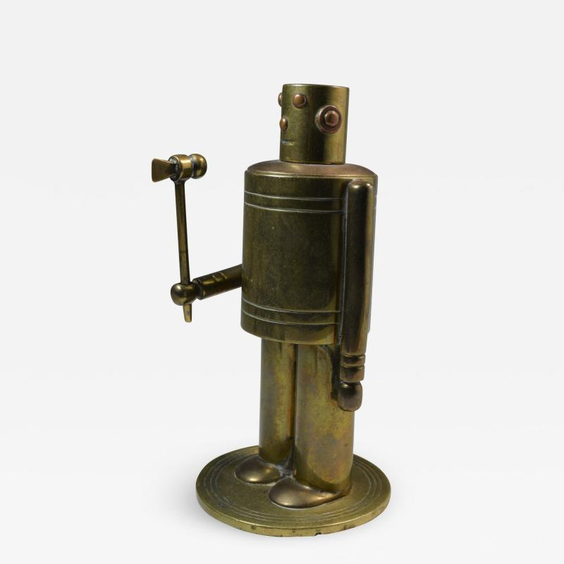 Robot Table Cigar Lighter Machine Age Art Deco 1930