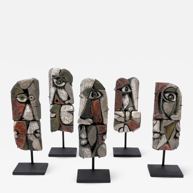 Roger Capron Abstract Ceramic Sculptures France 1990s