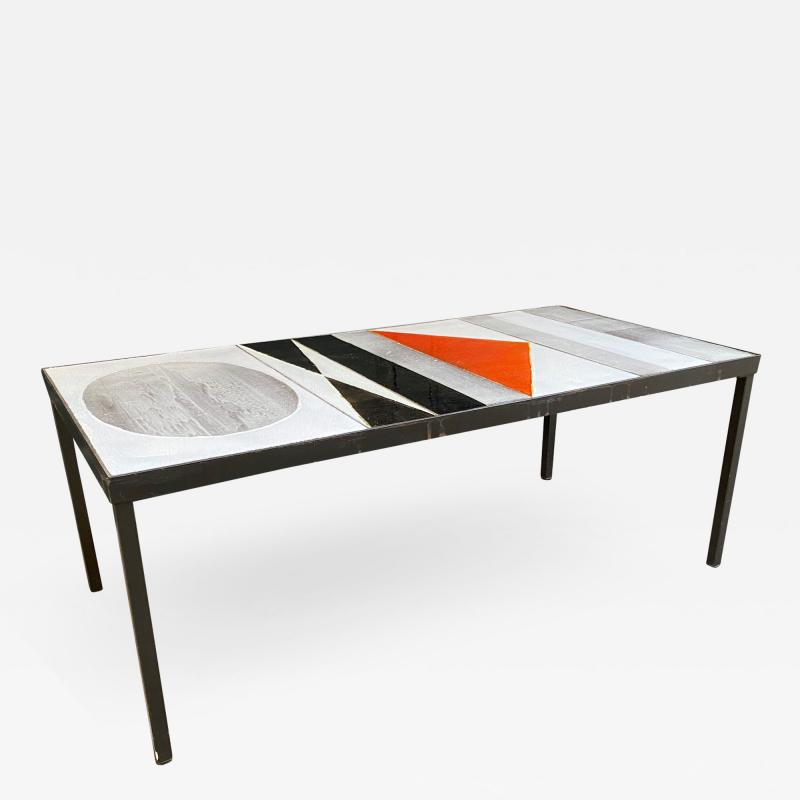 Roger Capron Ceramic Coffee Table Vallauris France 1960s