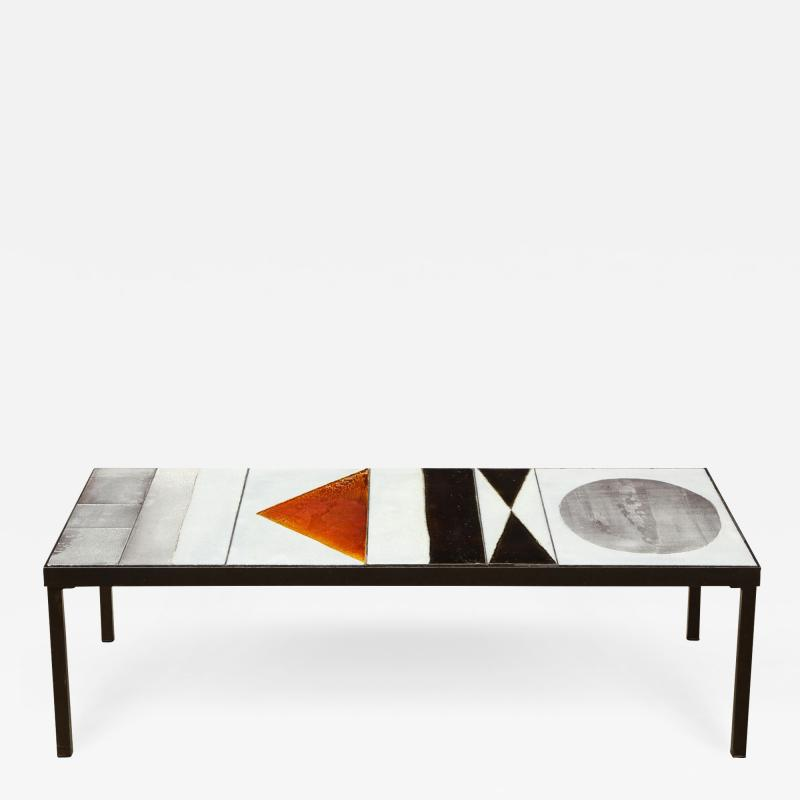 Roger Capron Low table with ceramic top