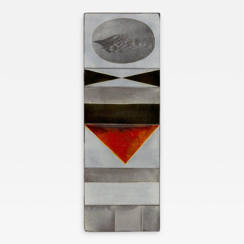 Roger Capron Roger Capron Glazed Lava Ceramic Tile Panel