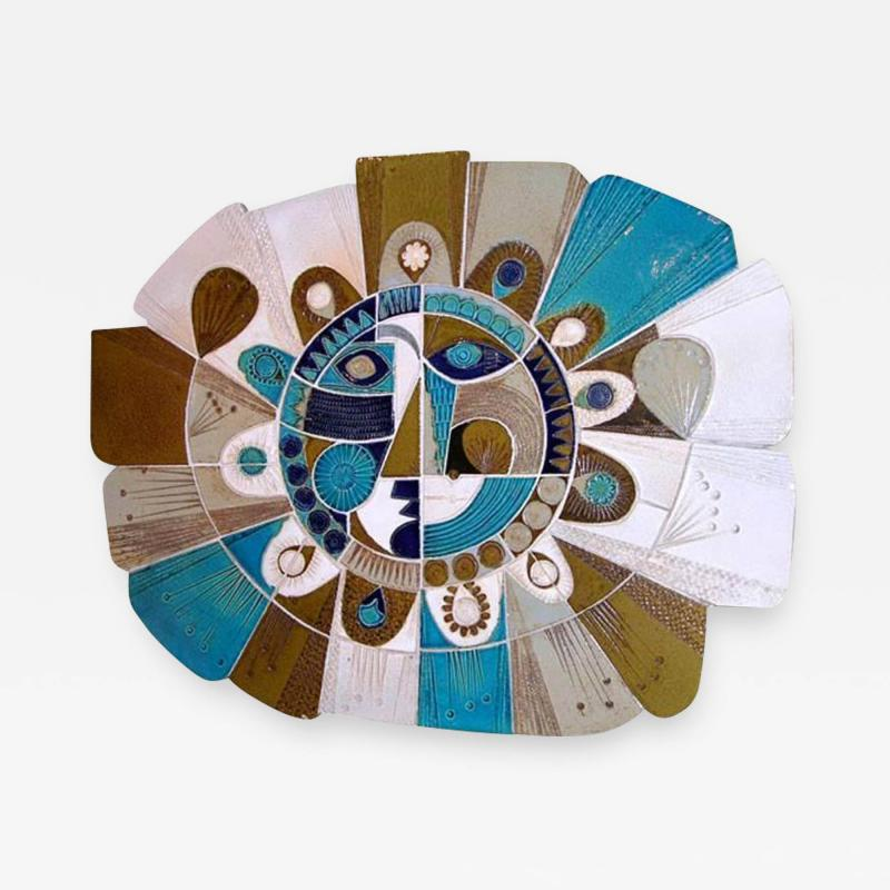 Roger Capron Soleil Ceramic Sculpture by Roger Capron