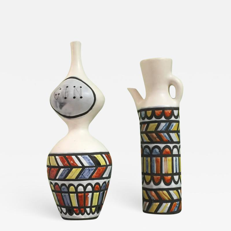 Roger Capron Vintage Ceramic Pitchers by Roger Capron