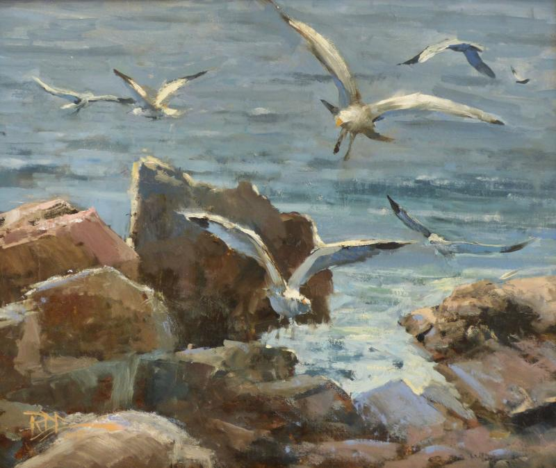 Roger Dale Brown Ocean Gulls