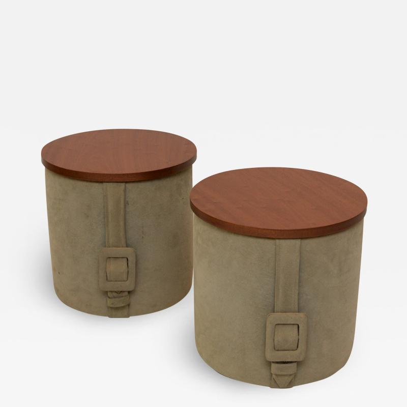 Roger Landault Pair of Mid Century Modern tables by Roger Landault 1919 1983