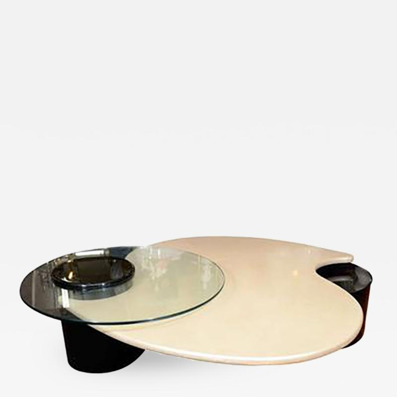Roger Rougier Unusual Abstract Form Coffee Table by Rougier