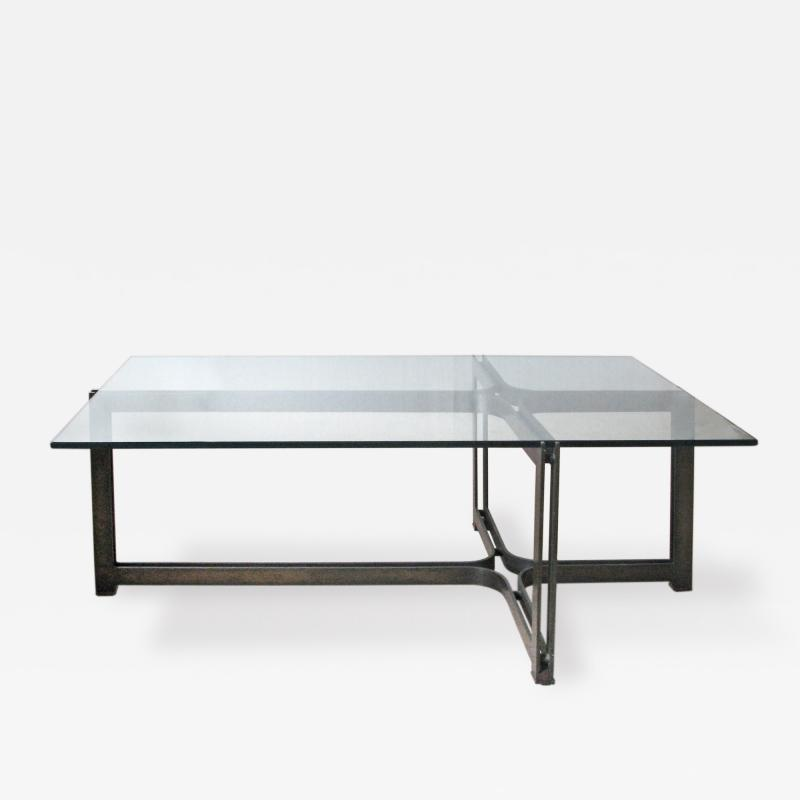 Roger Sprunger Bronze and Glass Low Table