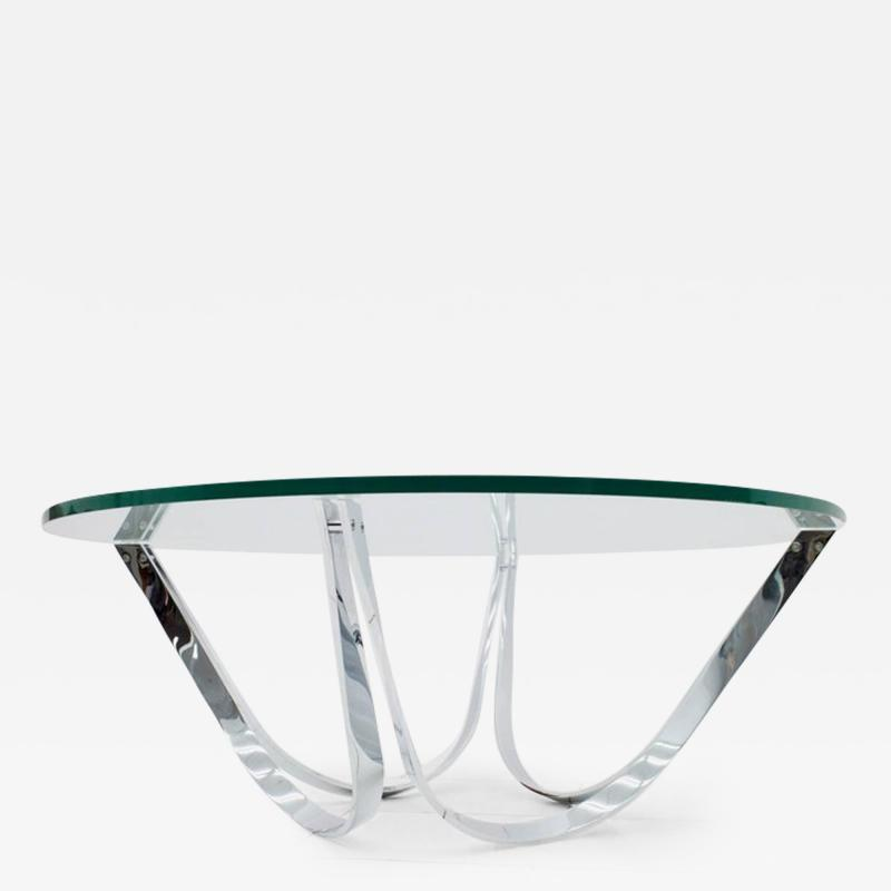 Roger Sprunger Coffee Table with Chrome Base