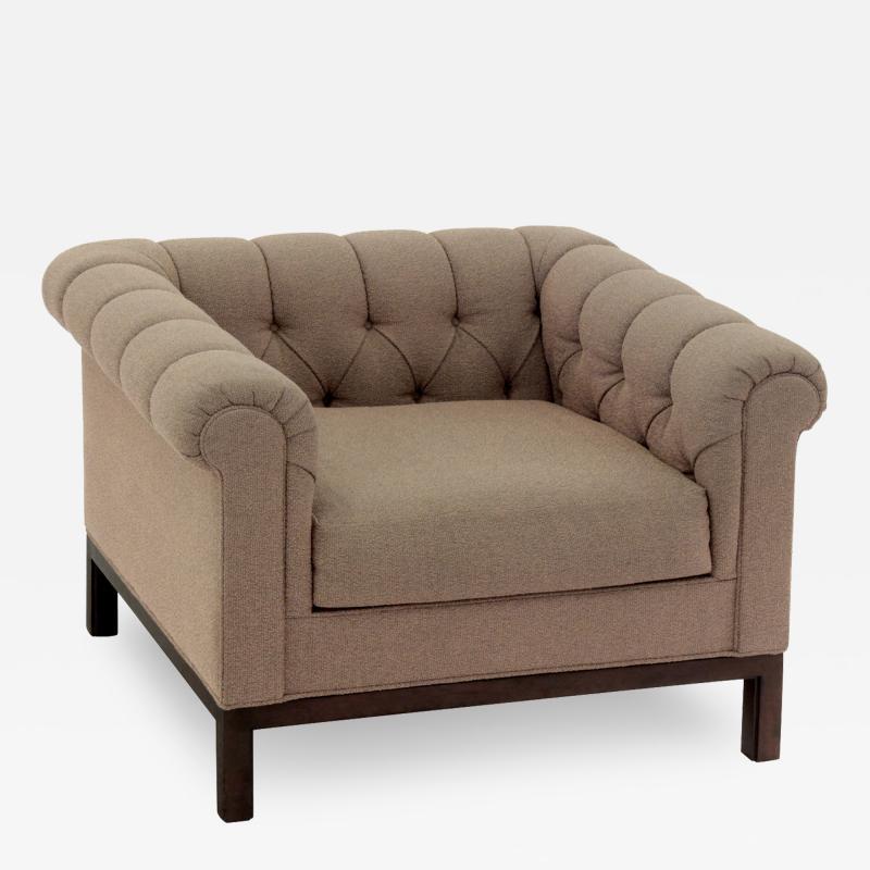 Roger Sprunger Roll Arm Chair by Roger Sprunger for Dunbar