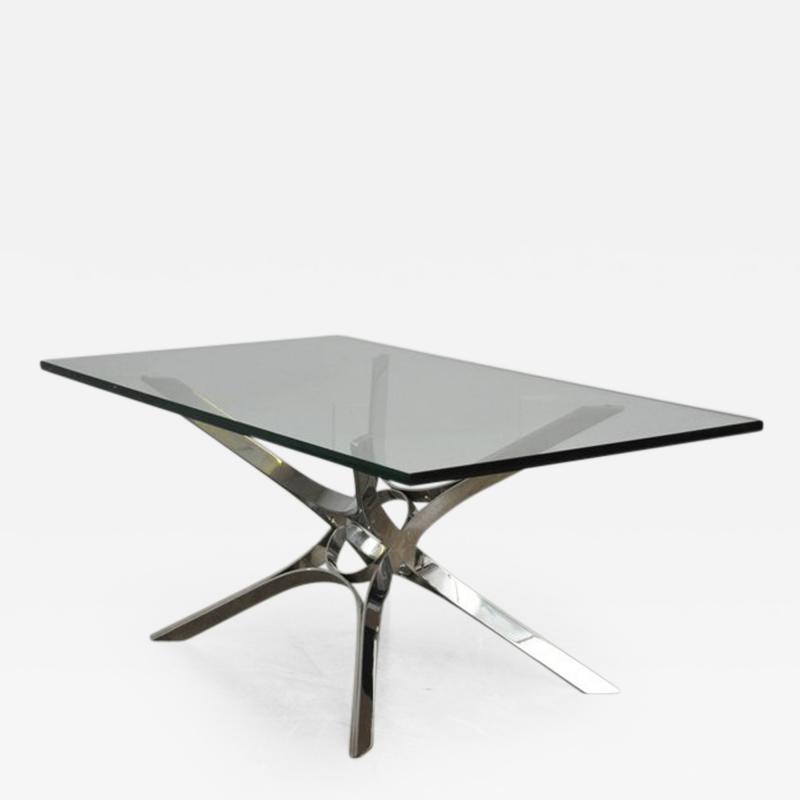 Roger Sprunger Sculptural Chrome Coffee Table by Roger Sprunger for Dunbar