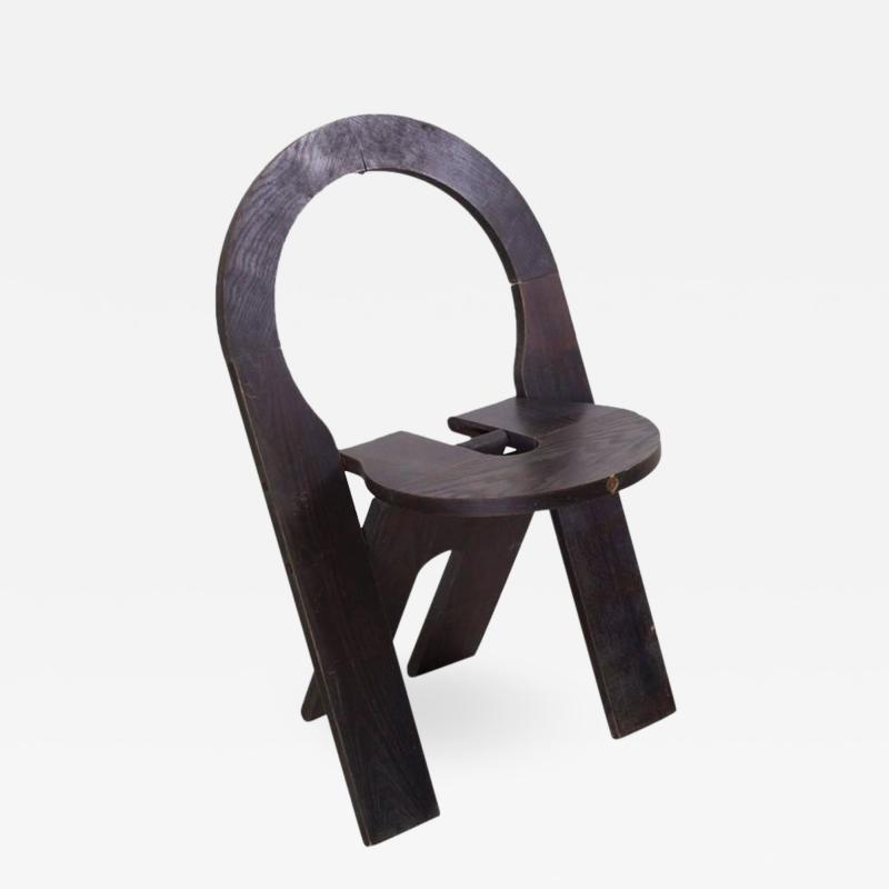 Roger Tallon Rare Black Roger Tallon Four Folding Chair