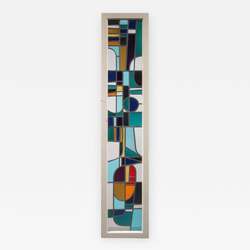 Roger Vandeweghe Stained Glass Window by Roger Vandeweghe for Amphora Brugge Belgium 1960