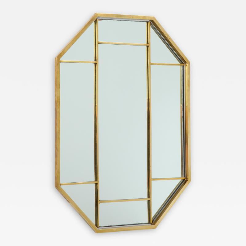 Romeo Rega Brass Octagonal Mirror