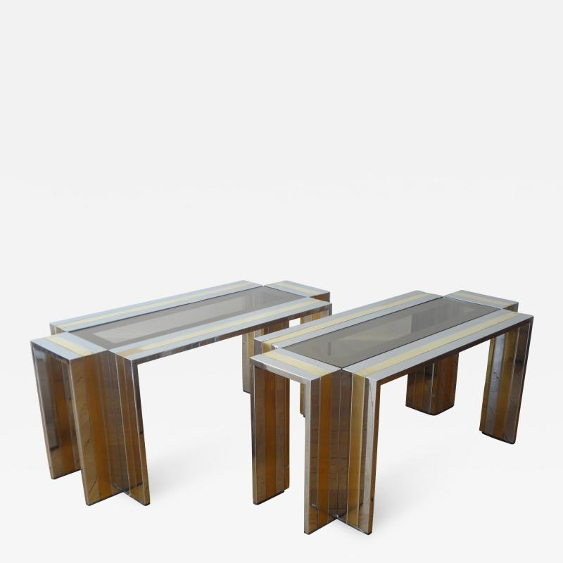 Romeo Rega Pair of End Tables by Romeo Rega 1970s