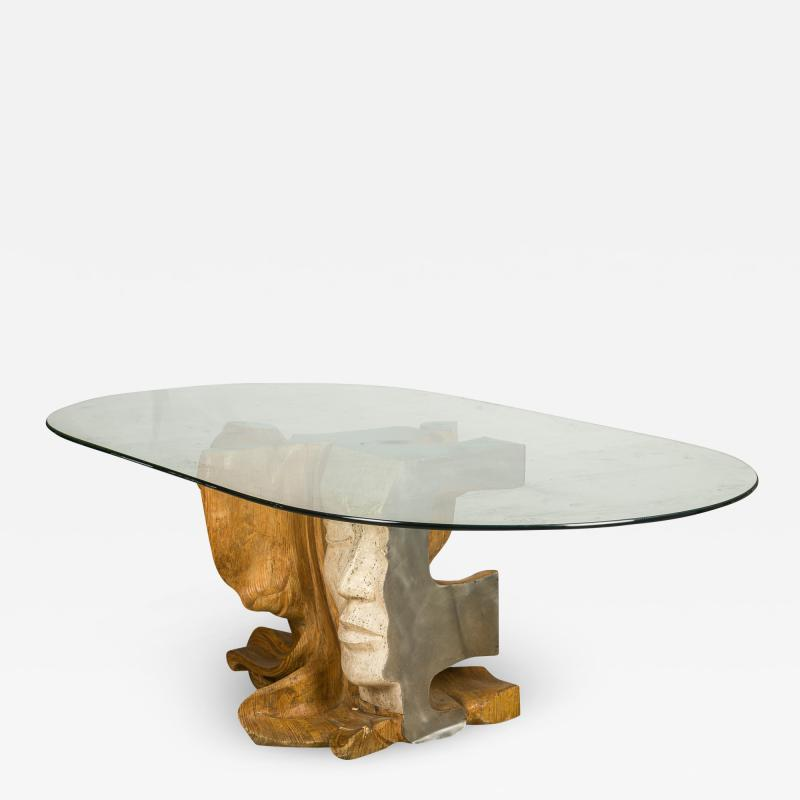 Romeo Tamanti Italian Sculpture Romeo Tamanti Primavera Table Signed