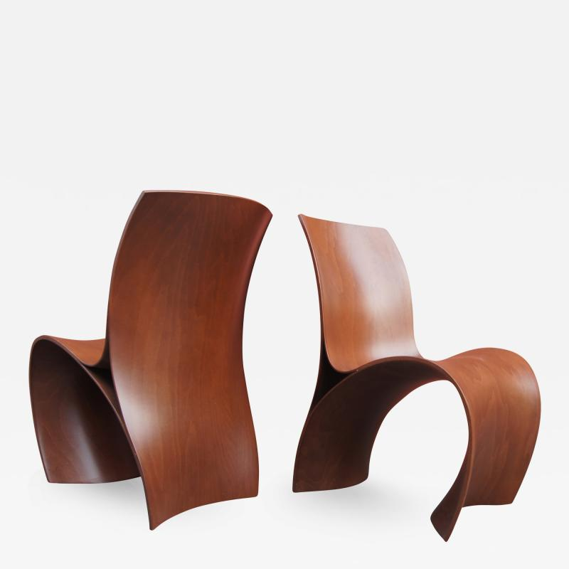 Ron Arad Pair of Three Skin Chairs by Ron Arad for Moroso