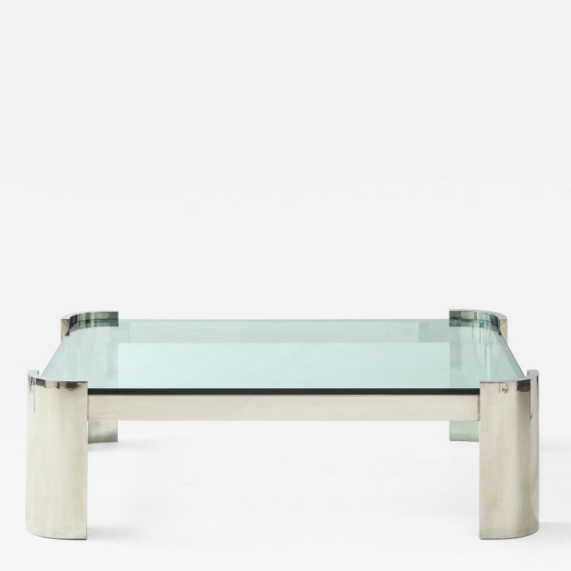 Ron Seff Large Polished Chrome Coffee Table by Ron Seff