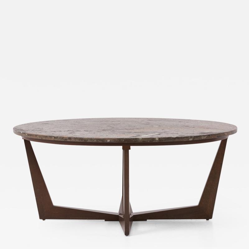 Ronald Schmitt Ronald Schmitt Fossil Stone Top Coffee Table Germany 1970s