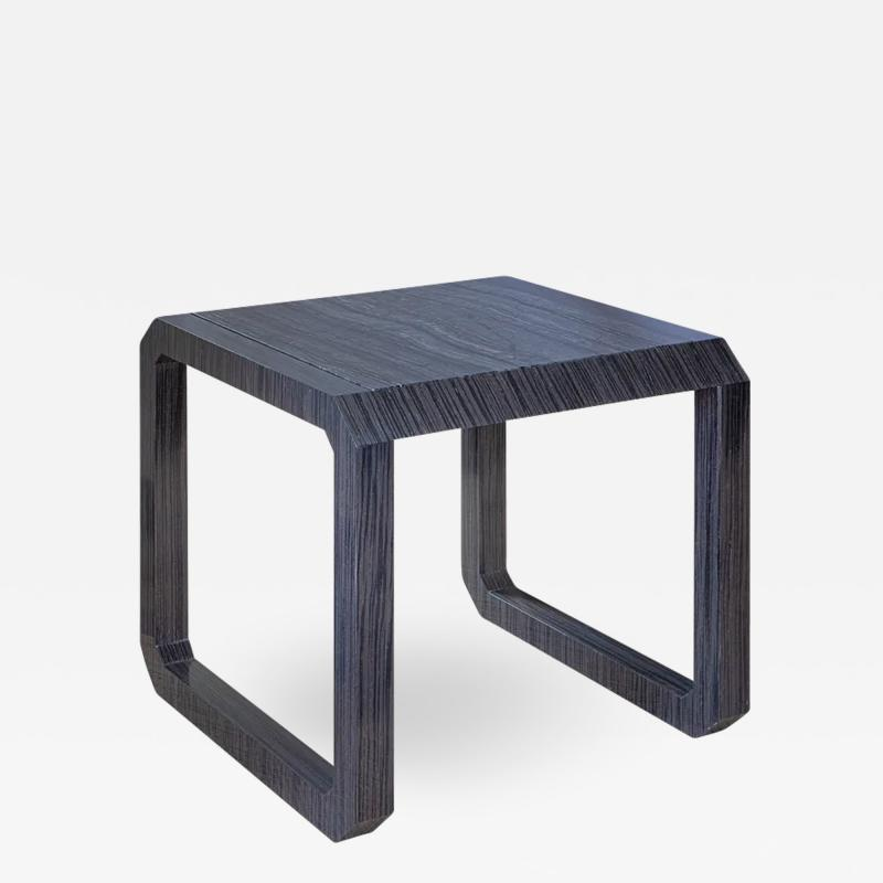 Roric Tobin Designs Contemporary Dark Wood and Marble Side Table