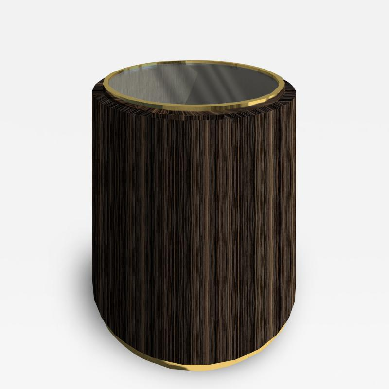 Roric Tobin Designs Side Table with Glass Top