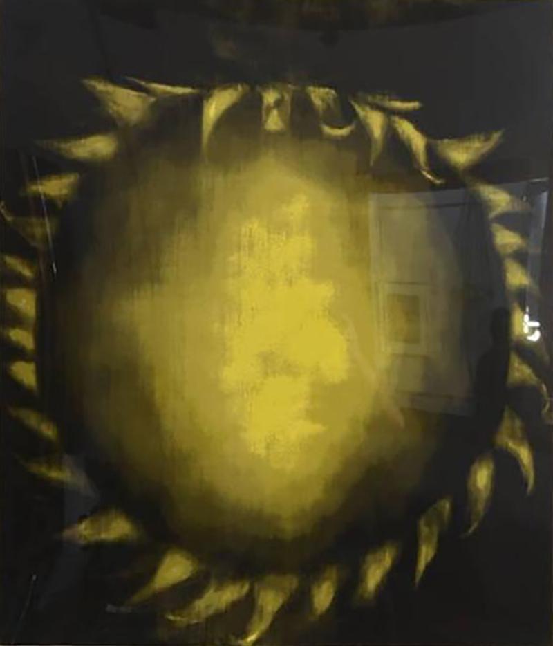 Ross Bleckner Large American Abstract Slikscreen on Paper Ross Bleckner