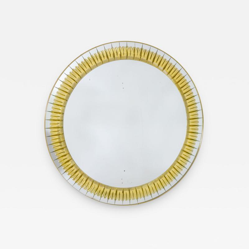 Round Crystal Arte Wall Mirror