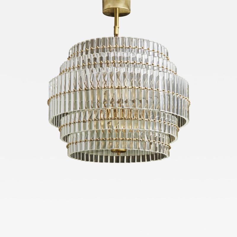 Round Multi Layers Glass Chandelier