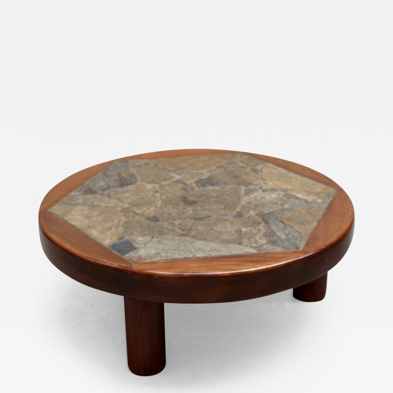 Round low table
