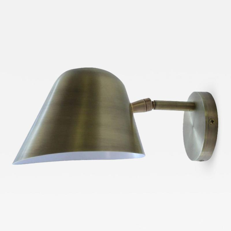 Rounded Brass Sconce