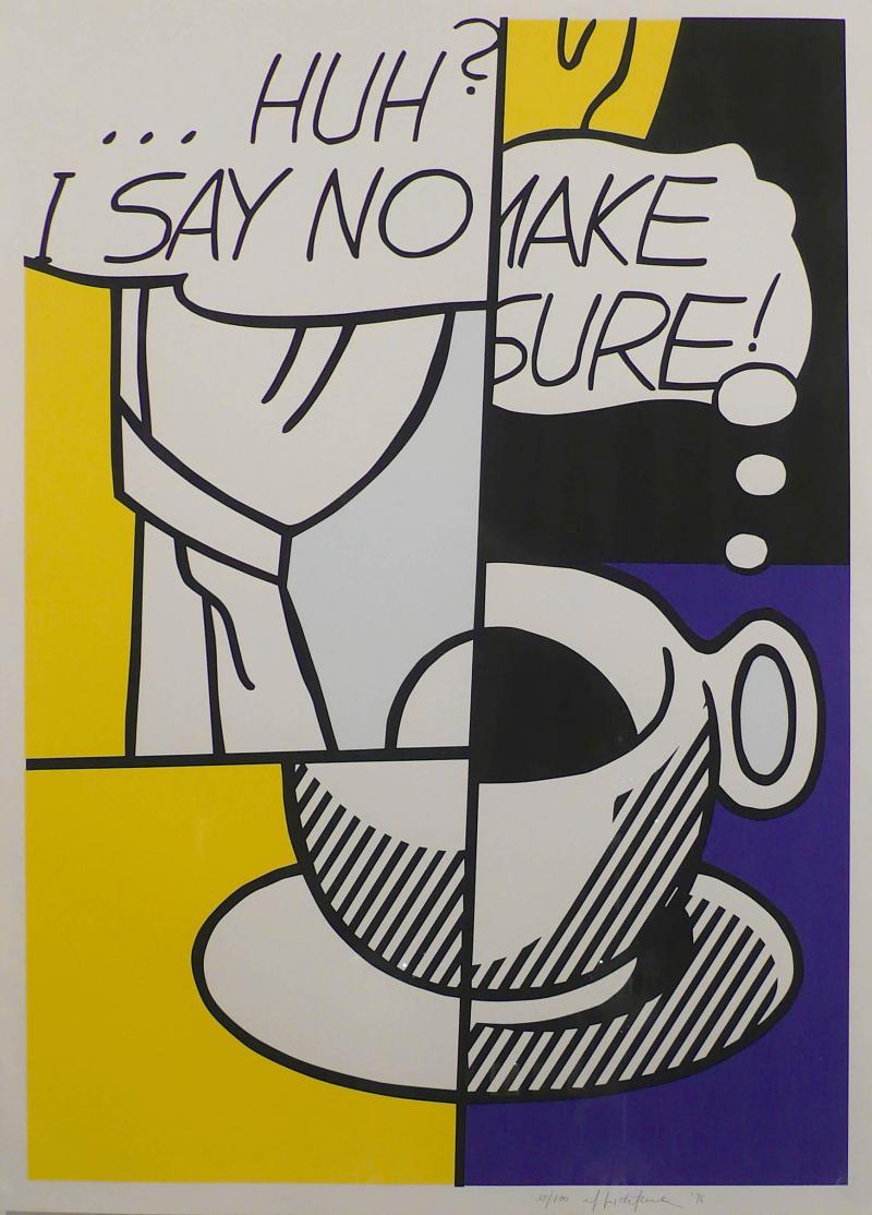 Roy Lichtenstein Huh I Say No