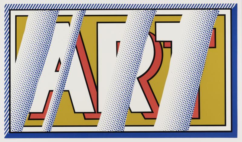 Roy Lichtenstein Roy Lichtenstein 1988 hand signed screenprint ART in colors