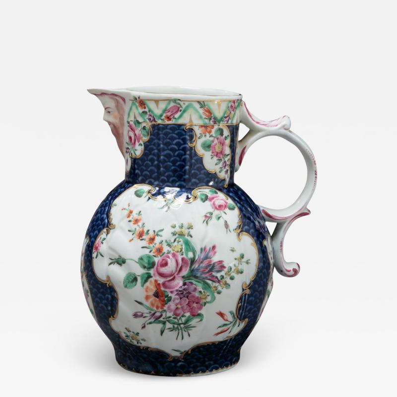Royal Worcester FIRST PERIOD WORCESTER PORCELAIN PITCHER