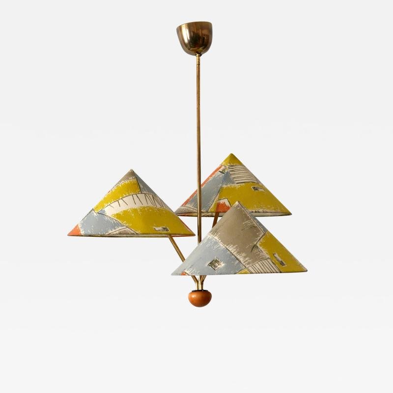 Rupert Nikoll Amazing 3 Armed Chandelier or Pendant Lamp Chinese Hut y Rupert Nikoll Austria