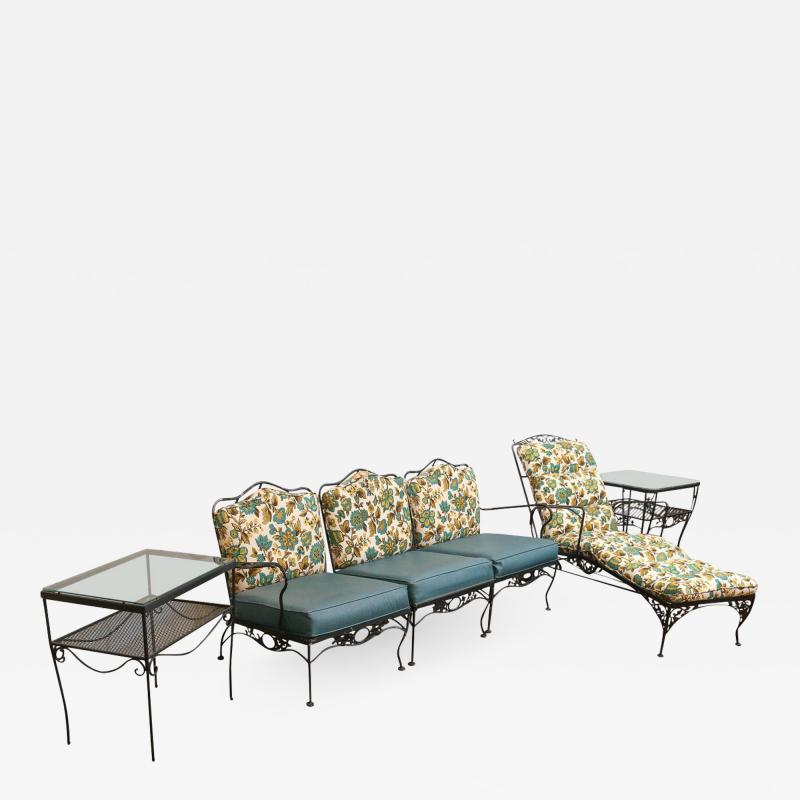 Russell Woodard Mid Century Modern Hollywood Glam Russell Woodard Patio or Garden Patio Set 9