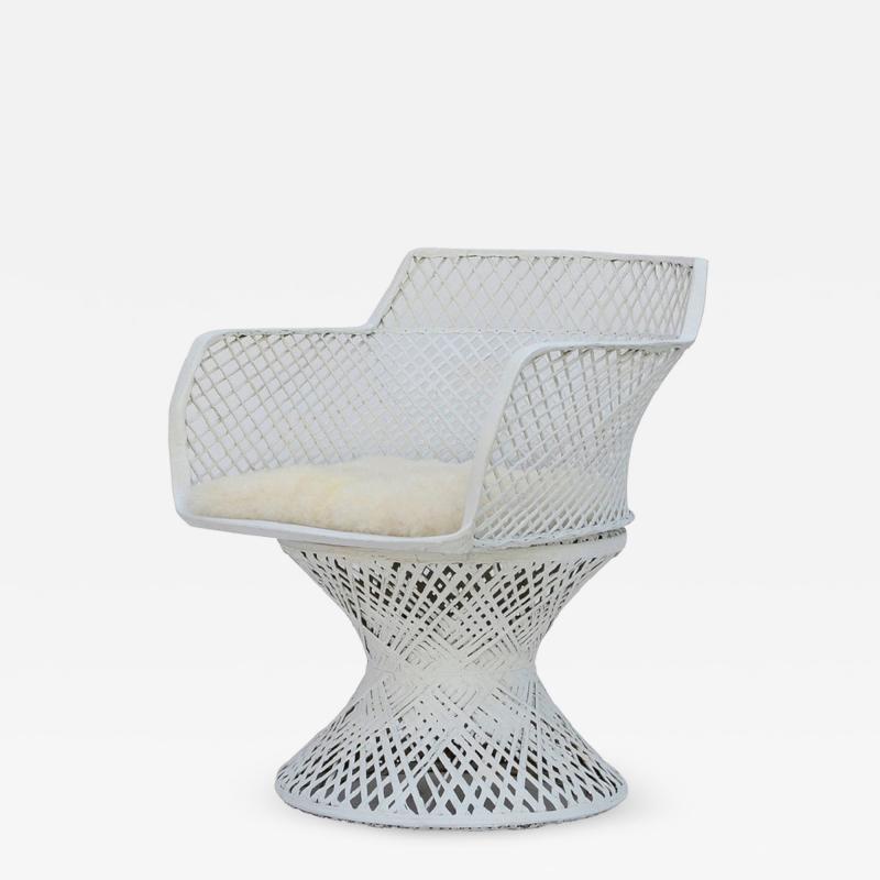 Russell Woodard Vintage Russell Woodard Spun Fiberglass Chair with Alpaca Seat Cover