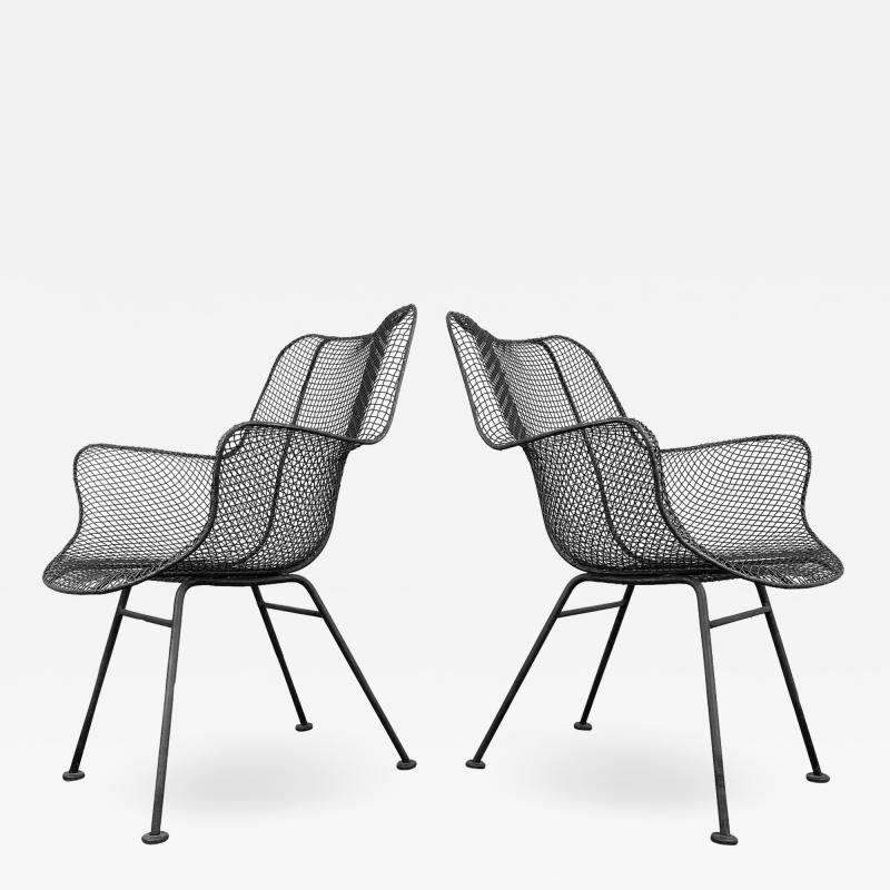 Russell Woodard Woodard Furniture 1950s Sculptura Chairs by Russell Woodard a Pair