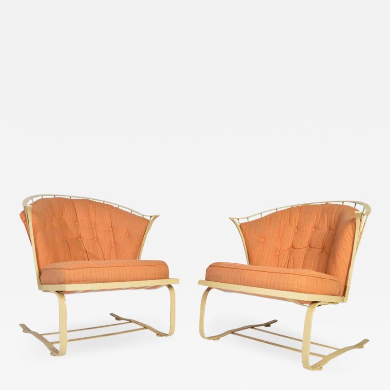 Russell Woodard Woodard Furniture Russell Woodard Cantilever Patio Lounge Chairs