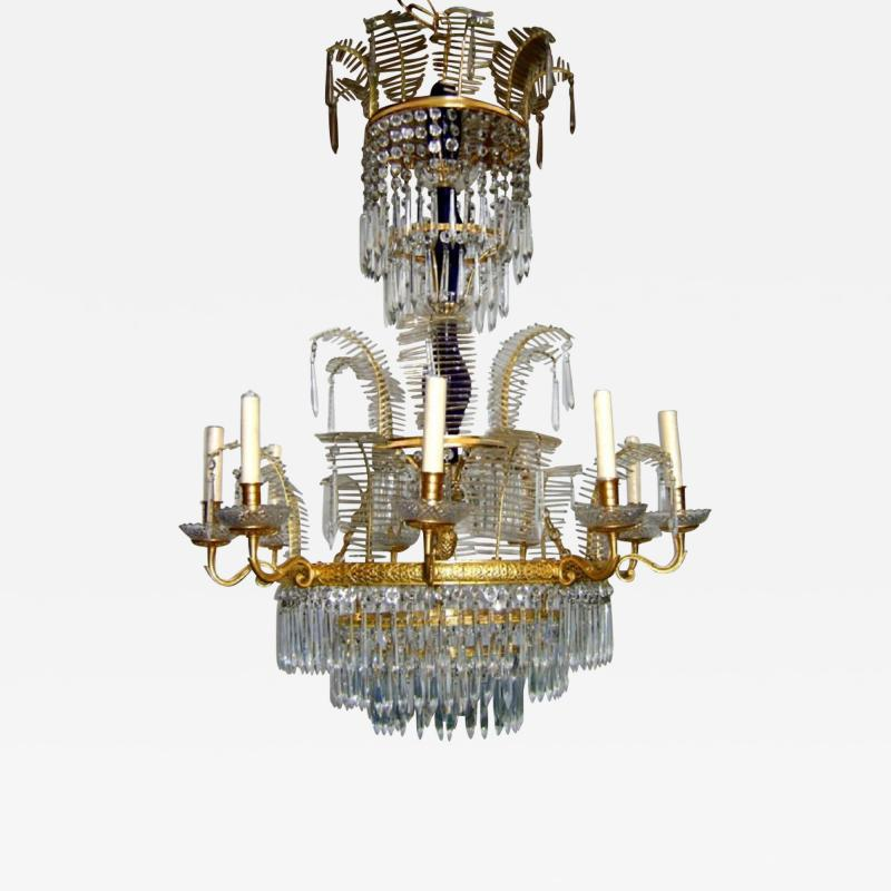 Russian Bronze and Crystals Chandelier