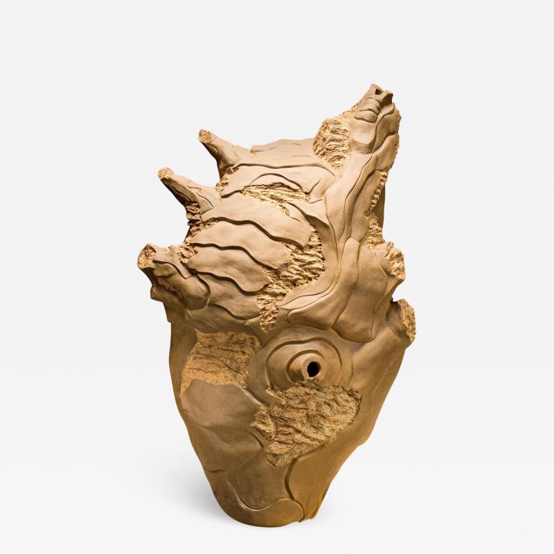 Ryo Toyonaga Ceramic Sculpture by Ryo Toyonaga 1993