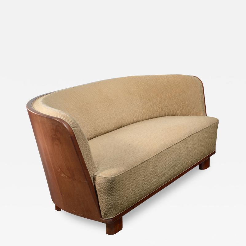 S ren Willadsen S ren Willadsen sofa with rounded mahogany frame