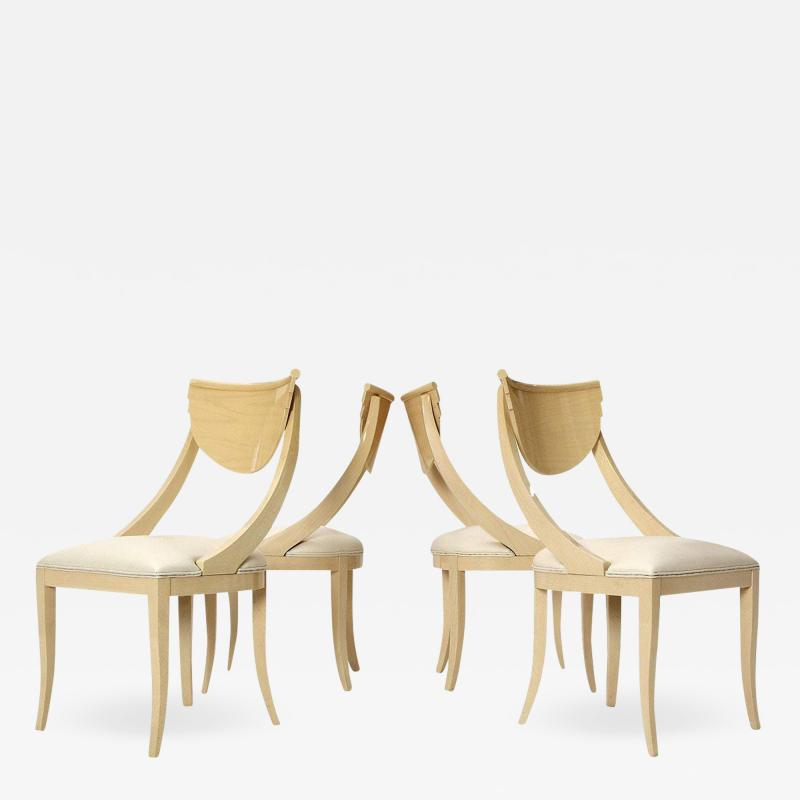 SET OF FOUR DECORATIVE SIDE CHAIRS