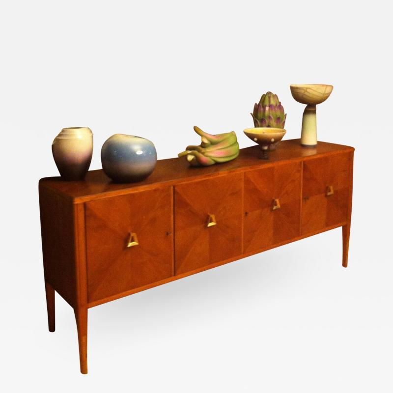 SIDEBOARD 4 DOORS WITH BRASS INSERTS