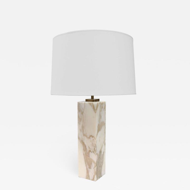 SINGLE T H ROBSJOHN GIBBINGS FOR HANSEN MARBLE TABLE LAMP