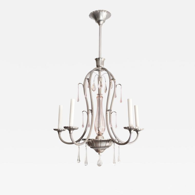 SWEDISH ART DECO Swedish Grace 5 ARM CHANDELIER