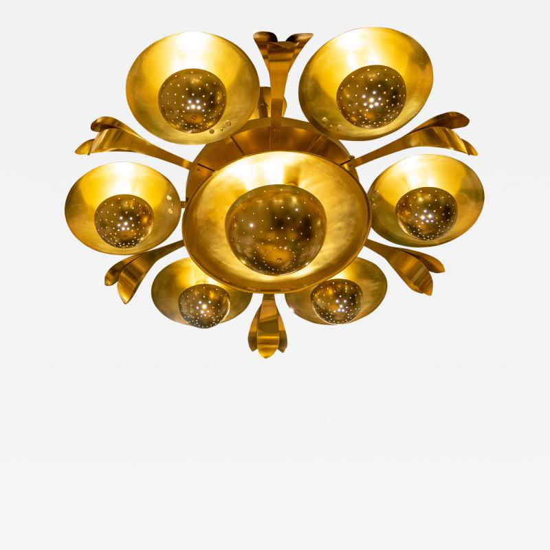 SWEDISH MID CENTURY THEATER CHANDELIER A