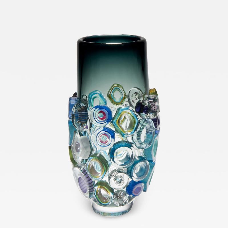 Sabine Lintzen Bright Field High Shape with Green Diamonds