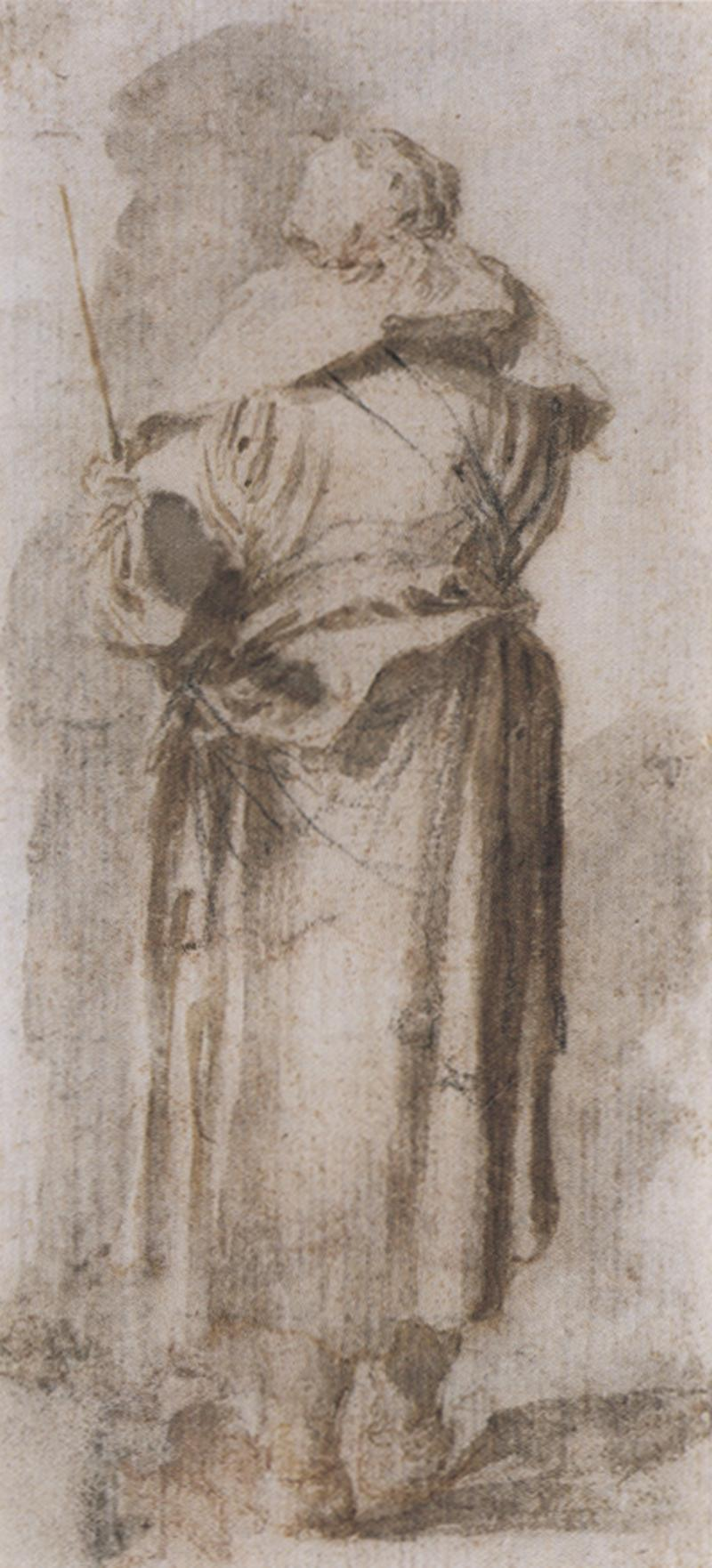 Salvator Rosa A standing woman seen from behind